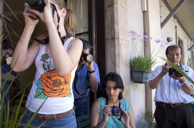 El curso de fotografía está formado como máximo por 5 alumnos